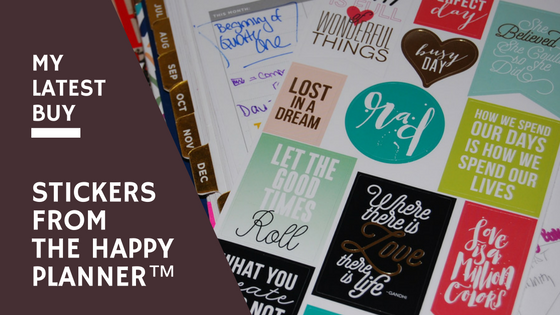 My Latest Buy: Stickers from The Happy Planner™